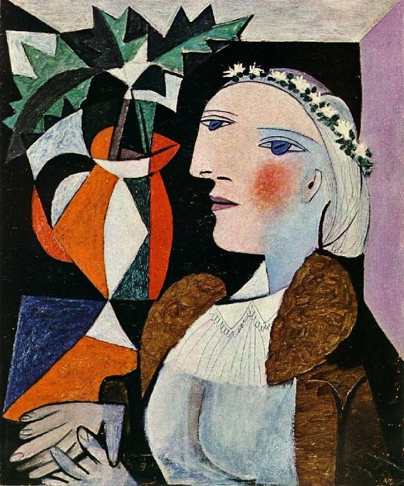 1937 Portrait de femme Е la guirlande. Пабло Пикассо (1881-1973) Период: 1931-1942