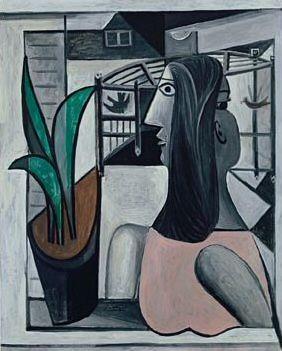 1941 Femme et cage Е oiseaux prКs de la fenИtre. Pablo Picasso (1881-1973) Period of creation: 1931-1942