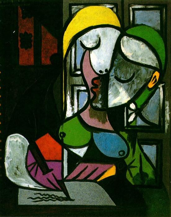 1934 Femme Вcrivant. Pablo Picasso (1881-1973) Period of creation: 1931-1942
