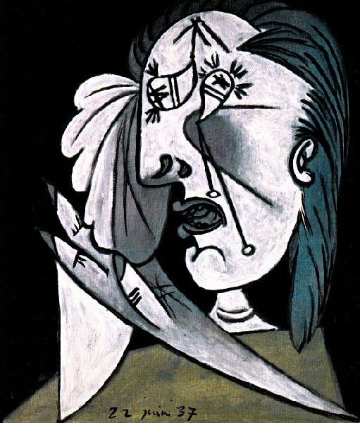 1937 La femme qui pleure 4 avec mouchoir. Пабло Пикассо (1881-1973) Период: 1931-1942