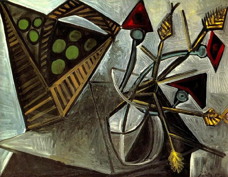 1942 Nature morte au panier de fruits. Пабло Пикассо (1881-1973) Период: 1931-1942