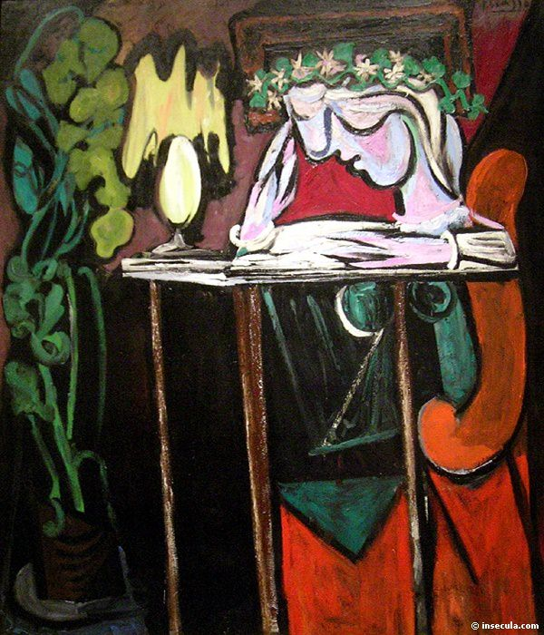 1934 Fille lisant Е une table. Pablo Picasso (1881-1973) Period of creation: 1931-1942