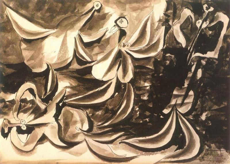 1932 Femmes jouant au bord de la mer. Пабло Пикассо (1881-1973) Период: 1931-1942