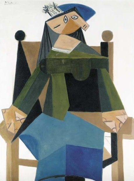 1941 Femme assise dans un fauteuil 5. Pablo Picasso (1881-1973) Period of creation: 1931-1942