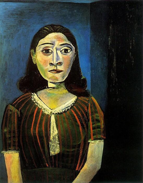 1942 Femme au corsage de satin (Portrait de Dora Maar). Pablo Picasso (1881-1973) Period of creation: 1931-1942