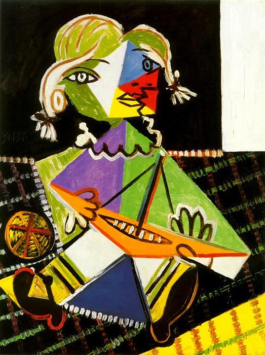 1938 Maya au bateau 2. Pablo Picasso (1881-1973) Period of creation: 1931-1942