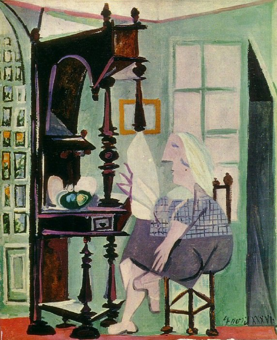 1936 Femme au buffet. Пабло Пикассо (1881-1973) Период: 1931-1942