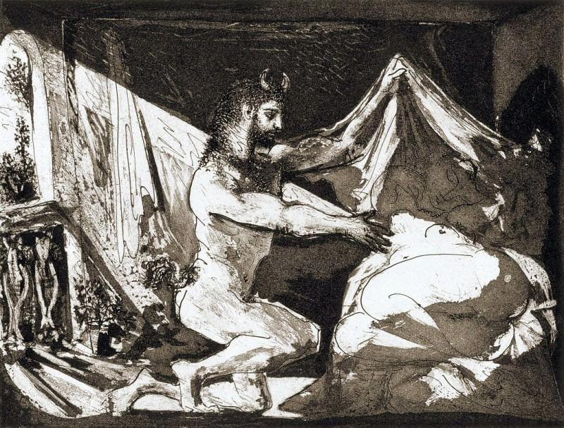 1936 Faune dВvoilant une femme (Suite Vollard L97). Pablo Picasso (1881-1973) Period of creation: 1931-1942