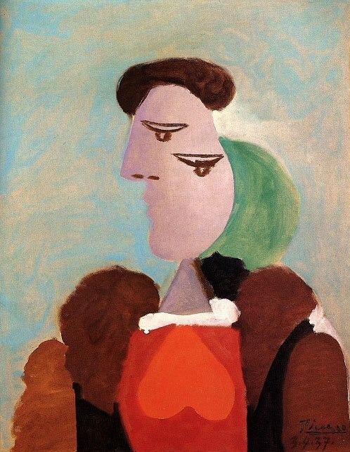1937 Portrait de femme. Pablo Picasso (1881-1973) Period of creation: 1931-1942