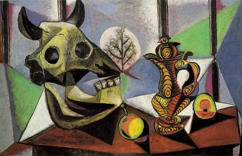 1939 Nature morte au crГne de taureau. Pablo Picasso (1881-1973) Period of creation: 1931-1942
