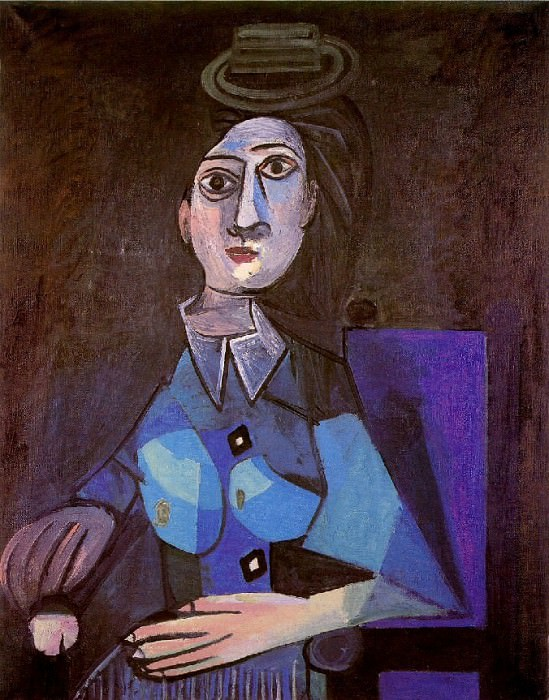 1942 Femme assise au petit chapeau rond. Pablo Picasso (1881-1973) Period of creation: 1931-1942