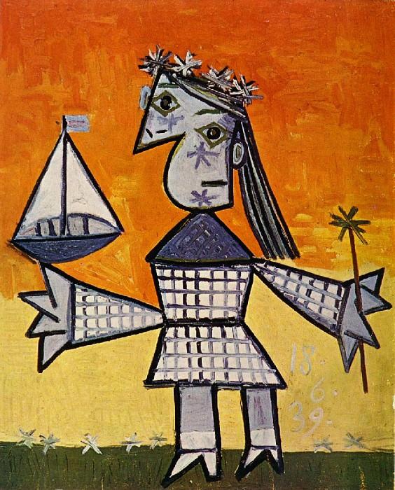 1939 Fillette couronnВe au bateau. Pablo Picasso (1881-1973) Period of creation: 1931-1942