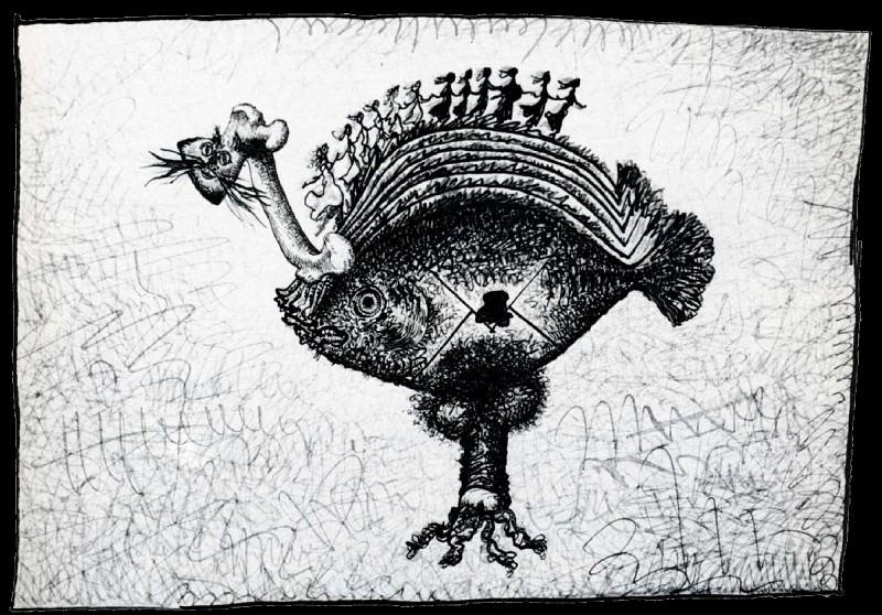 1937 Poisson dAvril (Dessin rebus no 8). Пабло Пикассо (1881-1973) Период: 1931-1942