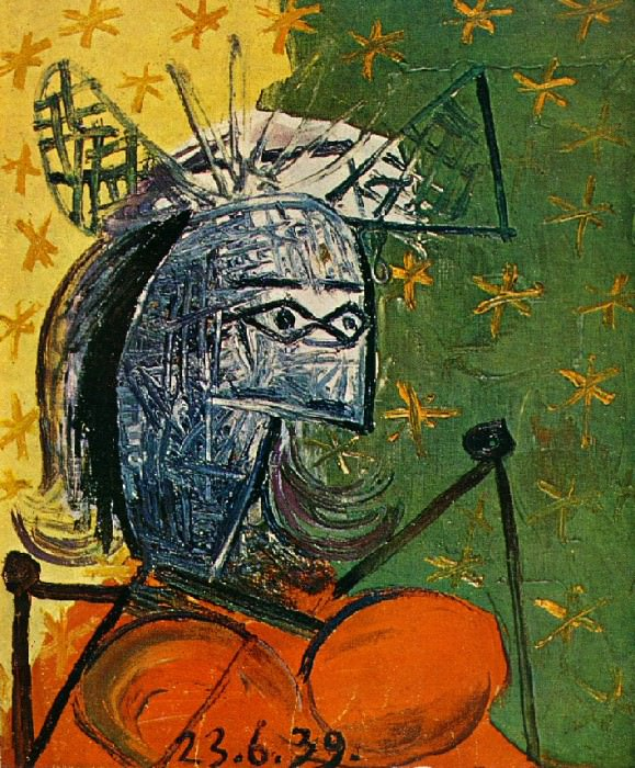 1939 Femme assise au chapeau 4. Pablo Picasso (1881-1973) Period of creation: 1931-1942