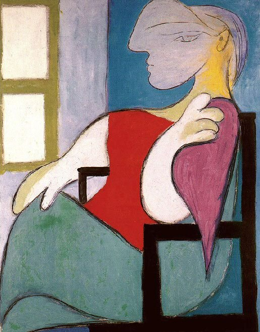 1932 Femme assise prКs dune fenИtre (Marie-ThВrКse). Pablo Picasso (1881-1973) Period of creation: 1931-1942