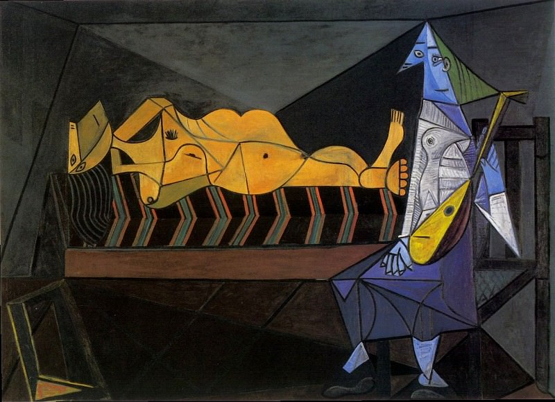 1942 Laubade. Pablo Picasso (1881-1973) Period of creation: 1931-1942 (La sВrВnade; Nu couchВ et musicienne assise)