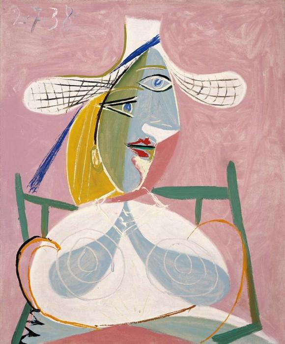 1938 Femme assise au chapeau de paille. Pablo Picasso (1881-1973) Period of creation: 1931-1942