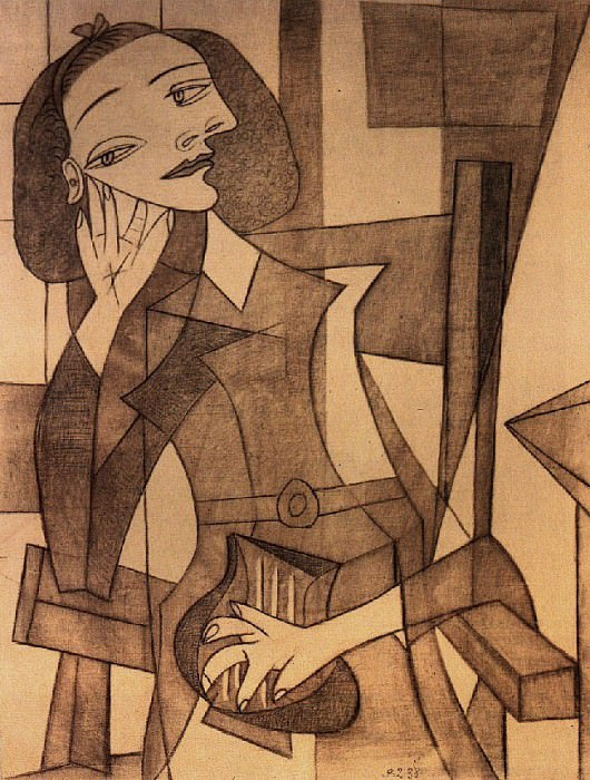 1938 Femme assise accoudВe (Nusch Eluard). Pablo Picasso (1881-1973) Period of creation: 1931-1942