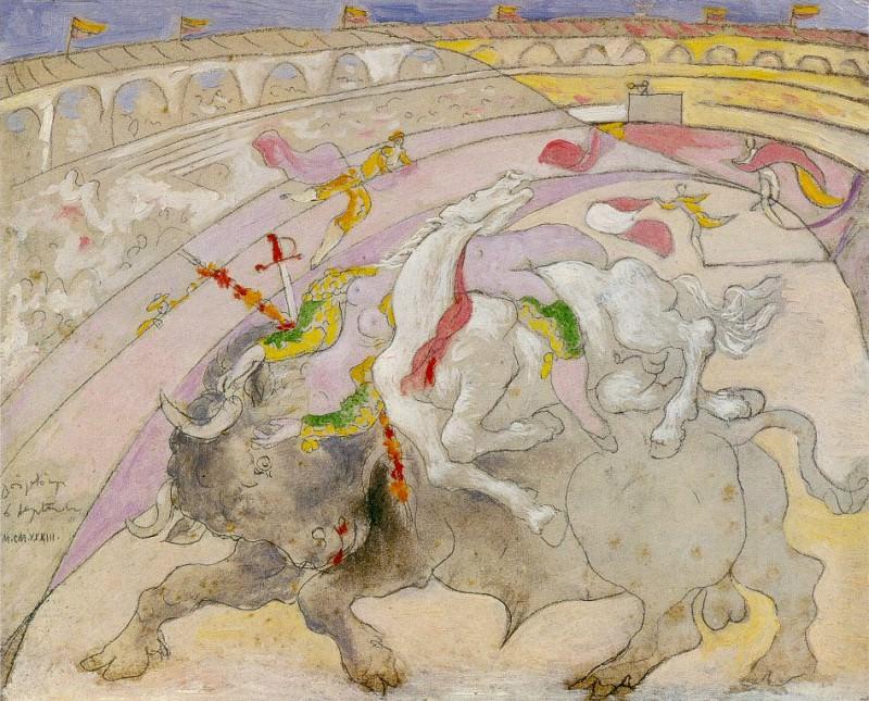 1933 Corrida- la mort de la femme torero. Pablo Picasso (1881-1973) Period of creation: 1931-1942