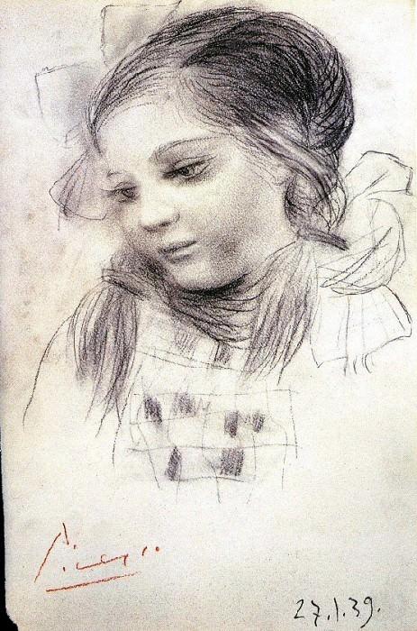1939 Portrait de Maya. Pablo Picasso (1881-1973) Period of creation: 1931-1942