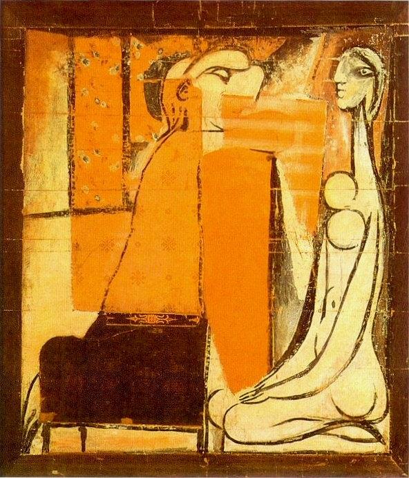 1934 Confidences. Pablo Picasso (1881-1973) Period of creation: 1931-1942 (Deux femmes, carton pour une tapisserie)