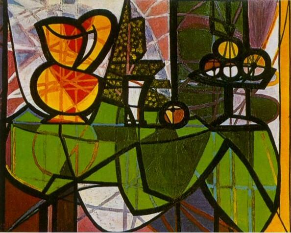 1931 Pichet et coupe de fruits. Пабло Пикассо (1881-1973) Период: 1931-1942