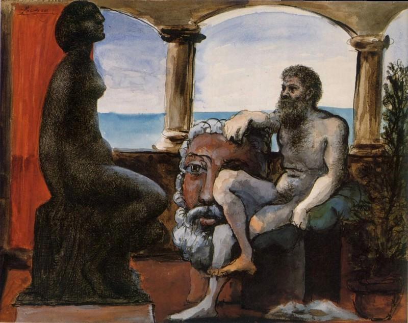 1933 Le sculpteur et sa statue. Pablo Picasso (1881-1973) Period of creation: 1931-1942