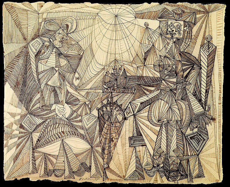 1938 Deux femmes Е lombrelle. Pablo Picasso (1881-1973) Period of creation: 1931-1942