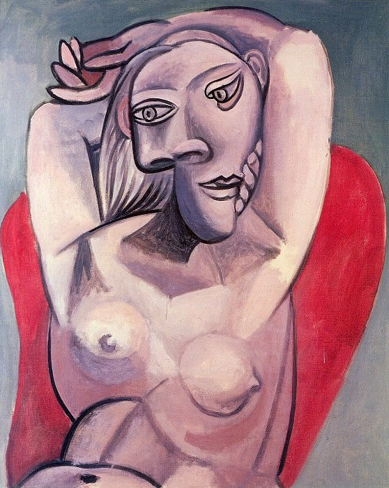 1939 Femme dans un fauteuil rouge. Pablo Picasso (1881-1973) Period of creation: 1931-1942