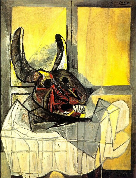 1942 TИte de taureau sur une table. Пабло Пикассо (1881-1973) Период: 1931-1942