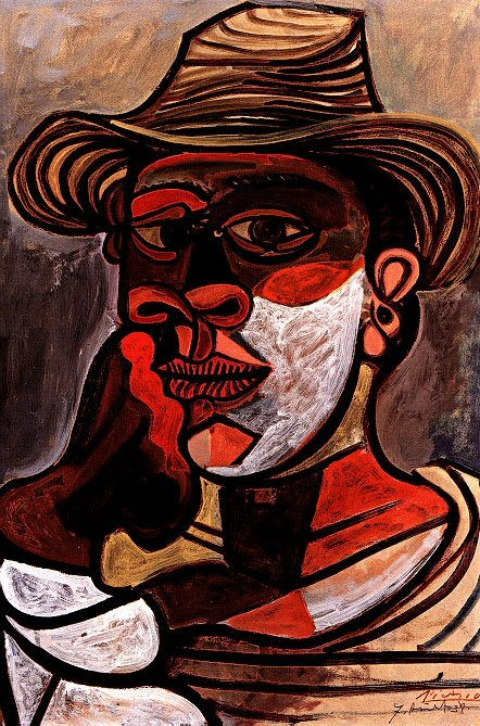 1938 Homme au gant rouge. Pablo Picasso (1881-1973) Period of creation: 1931-1942