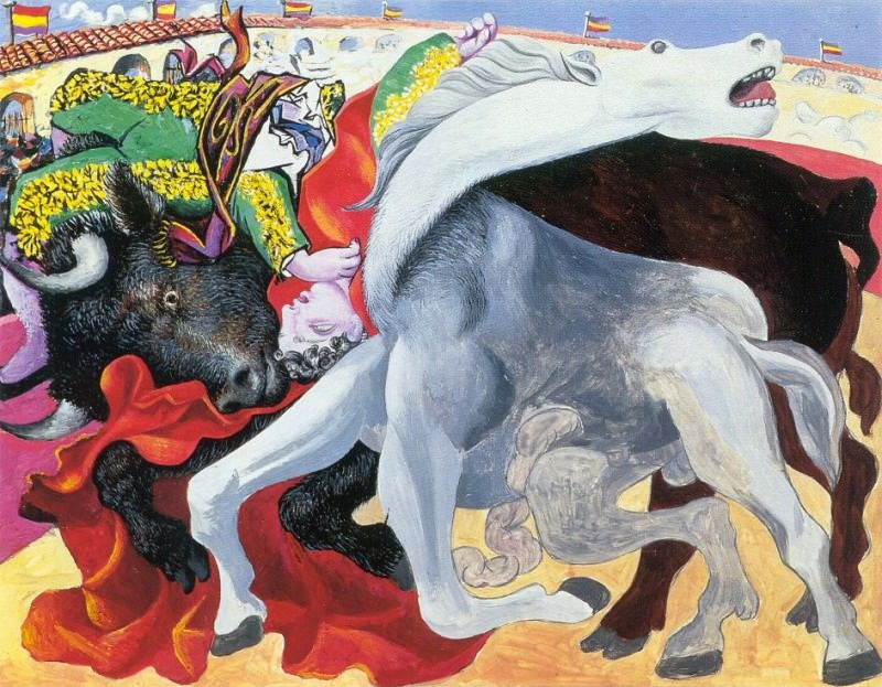 1933 Corrida- la mort du torero. Пабло Пикассо (1881-1973) Период: 1931-1942