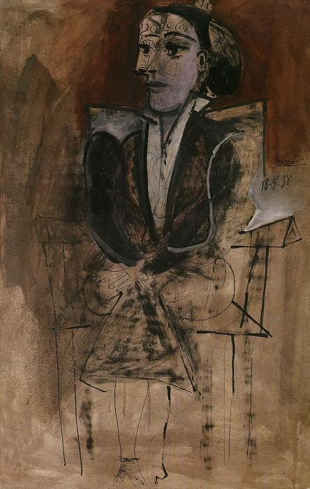 1938 Portrait de Dora Maar assise 2. Pablo Picasso (1881-1973) Period of creation: 1931-1942