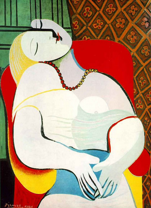 1932 Le rИve. Pablo Picasso (1881-1973) Period of creation: 1931-1942