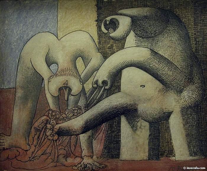 1937 Deux femmes nues sur la plage. JPG. Pablo Picasso (1881-1973) Period of creation: 1931-1942