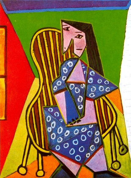1941 Femme assise dans un fauteuil. Пабло Пикассо (1881-1973) Период: 1931-1942