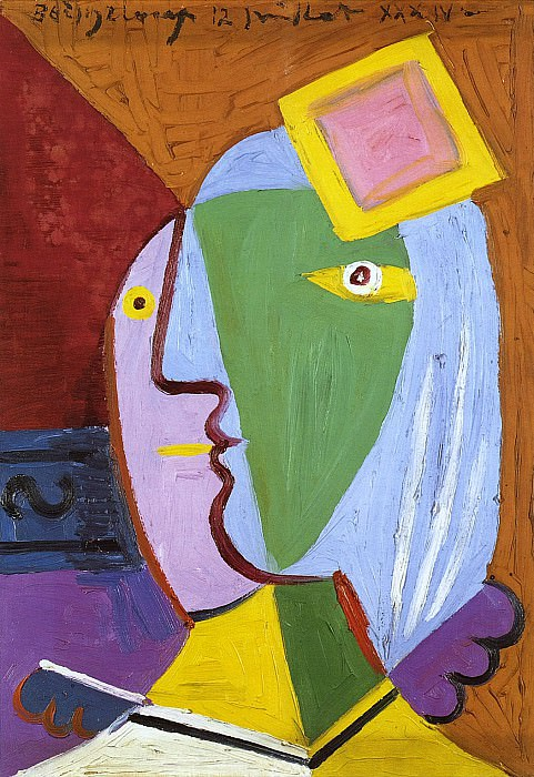 1934 Femme au bВret. Pablo Picasso (1881-1973) Period of creation: 1931-1942