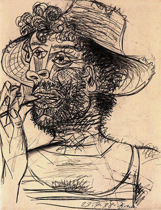 1938 Homme Е la sucette. Пабло Пикассо (1881-1973) Период: 1931-1942