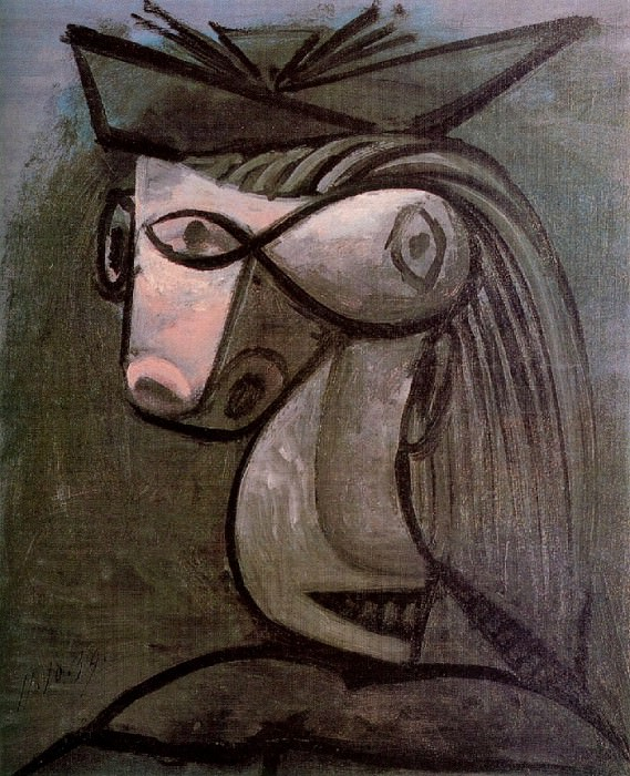 1939 TИte de femme au chapeau. Pablo Picasso (1881-1973) Period of creation: 1931-1942