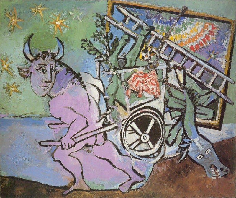 1936 Minotaure tirant une charette. Пабло Пикассо (1881-1973) Период: 1931-1942