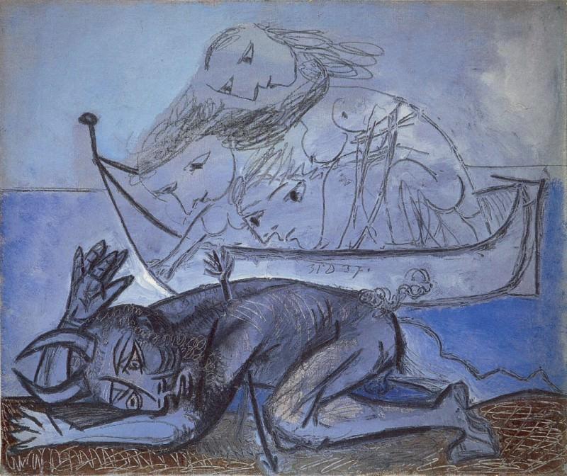 1937 Barque de naЛades et faune blessВ. Pablo Picasso (1881-1973) Period of creation: 1931-1942
