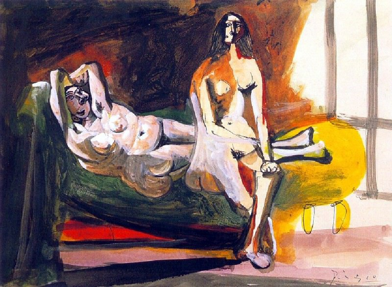 1941 Deux femmes nues. Pablo Picasso (1881-1973) Period of creation: 1931-1942