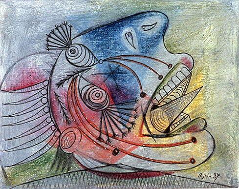 1937 Guernica (etude] La femme qui pleure. Пабло Пикассо (1881-1973) Период: 1931-1942