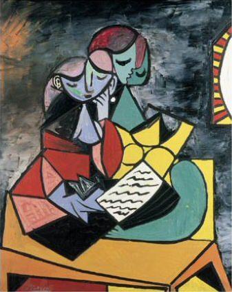 1934 Femmes tenant un livre. Pablo Picasso (1881-1973) Period of creation: 1931-1942