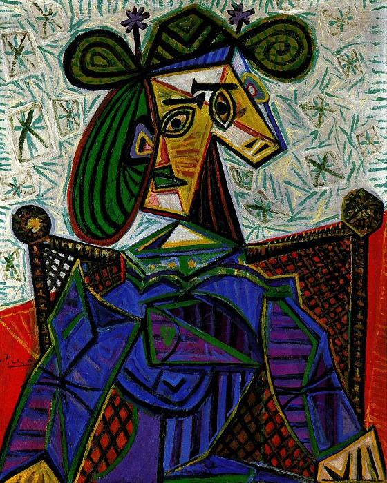 1941 Femme assise dans un fauteuil 1. Pablo Picasso (1881-1973) Period of creation: 1931-1942