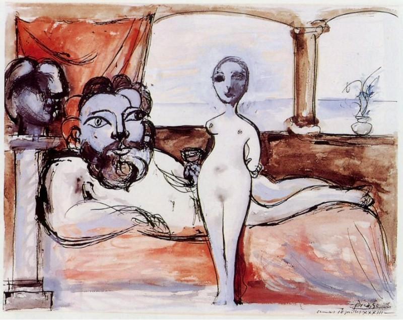 1933 Le repos du sculpteur. Пабло Пикассо (1881-1973) Период: 1931-1942