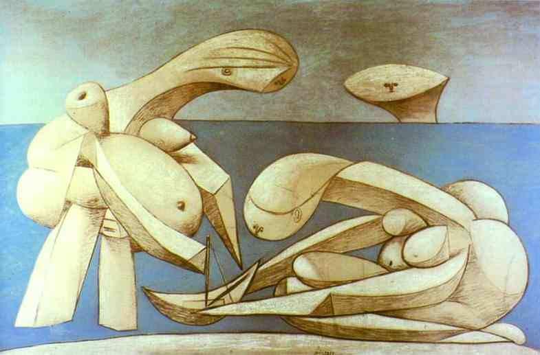 1937 La baignade. Pablo Picasso (1881-1973) Period of creation: 1931-1942