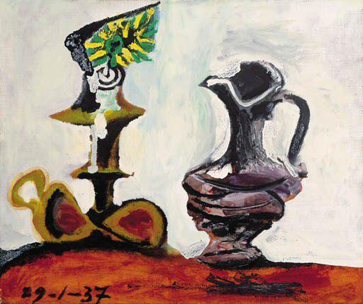 1937 Nature morte Е la bougie l. Pablo Picasso (1881-1973) Period of creation: 1931-1942