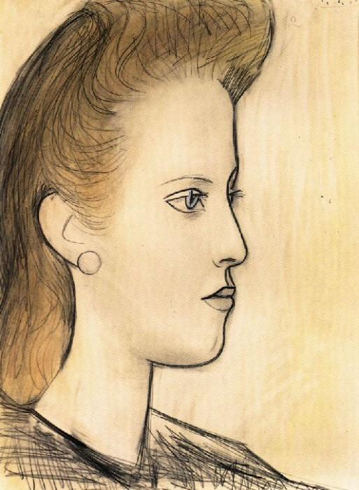 1941 Portrait de Mademoiselle Aubrey. Pablo Picasso (1881-1973) Period of creation: 1931-1942