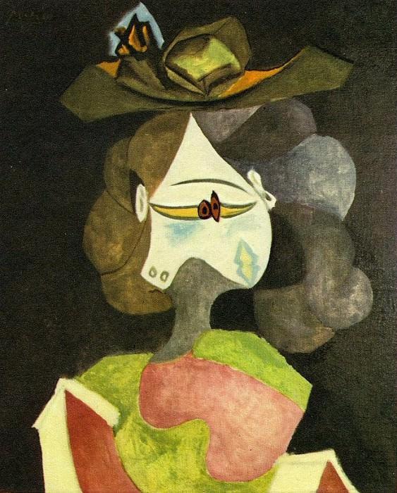 1940 Le chapeau Е fleurs. Pablo Picasso (1881-1973) Period of creation: 1931-1942 (Buste de femme)